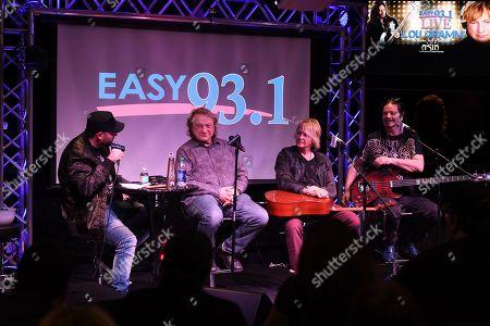 Stock Photo of DJ Mike Kruz, Lou Gramm, Jeffrey Kollman, John Payne