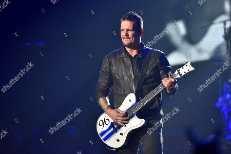 Dan Donegan of the band Disturbed performs at the Allstate Arena, in Rosemont, Ill