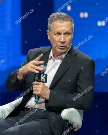 Former Governor John Kasich speaks during the 2019 SXSW conference and Festivals at ACL Live