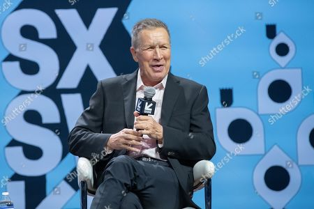 Stock Picture of Former Governor John Kasich speaks during the 2019 SXSW conference and Festivals at ACL Live