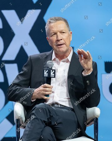 Stock Photo of Former Governor John Kasich speaks during the 2019 SXSW conference and Festivals at ACL Live