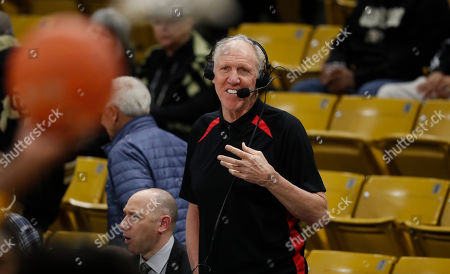 R m. Television color analyst Bill Walton in the first half of an NCAA college basketball game, in Boulder, Colo