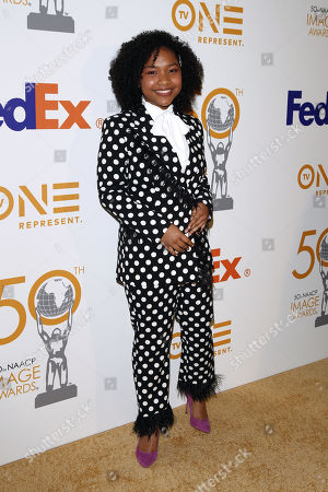 Laya DeLeon Hayes poses for the photographers upon arrival for the 50th NAACP Image Awards Nominees Luncheon at the Loews Hollywood Hotel in Hollywood, California, USA, 09 March 2019. The NAACP (National Association for the Advancement of Colored People) Image Awards honor excellence in television, recording and motion picture categories.