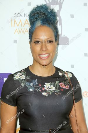 Millicent Shelton arrives at the 50th NAACP Image Awards Nominees Luncheon at the Loews Hotel, in Los Angeles