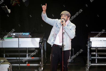 Juan Luis Guerra performs during a concert held within the framework of the Santa Cruz de Tenerife Carnival, in Santa Cruz de Tenerife, Canary Islands, Spain, 09 March 2019.