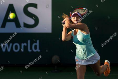 Danielle Collins (USA) defeated Kirsten Flipkens (BEL) 6-4, 6-1 at the BNP Paribas Open at the Indian Wells Tennis Garden in Indian Wells, California. ©Mal Taam/TennisClix/CSM