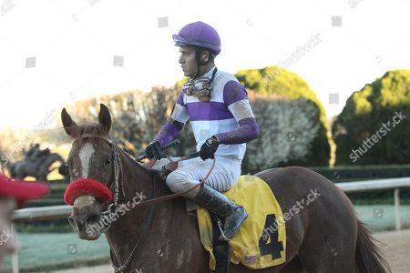 Hot Springs, Arkansas, U.S. - , Bizwhacks #4, ridden by Mario Gutierrez, in the Honeybee Stakes at Oaklawn Park in Hot Springs, Arkansas. ©Justin Manning/Eclipse Sportswire/CSM