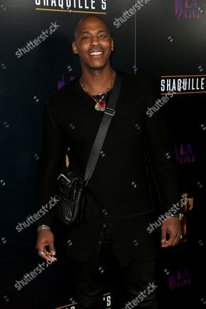 Mehcad Brooks arrives at the Grand Opening of Shaquille's at LA Live, in Los Angeles