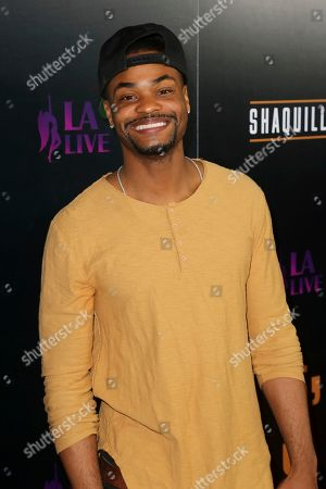King Bach arrives at the Grand Opening of Shaquille's at LA Live, in Los Angeles
