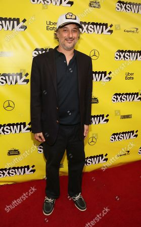 """Harmony Korine arrives for the world premiere of """"The Beach Bum"""" at the Paramount Theatre during the South by Southwest Film Festival, in Austin, Texas"""