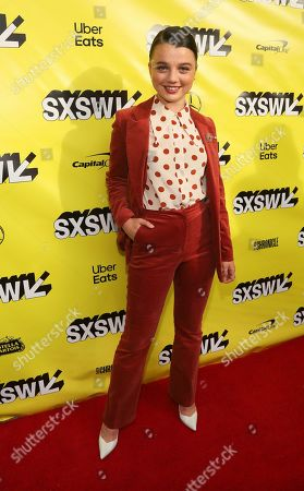 """Stefania LaVie Owen arrives for the world premiere of """"The Beach Bum"""" at the Paramount Theatre during the South by Southwest Film Festival, in Austin, Texas"""