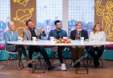 Dido, James Martin, Mark Wright, James Fleet and Kerry Godliman