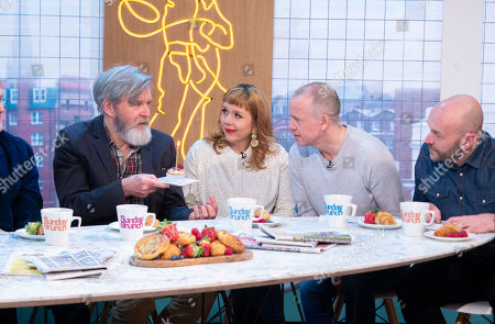 James Fleet, Kerry Godliman, Tim Lovejoy, Simon Rimmer