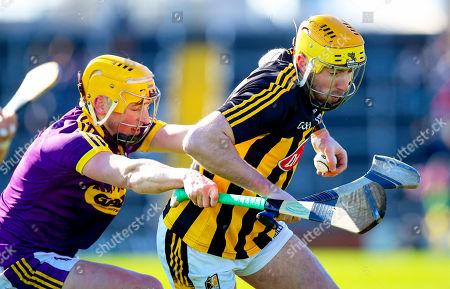 Wexford vs Kilkenny. Wexford's Damien Reck with Billy Ryan of Kilkenny