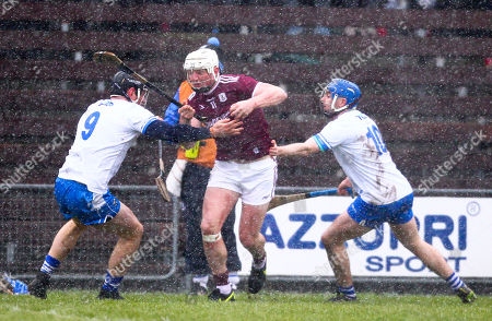 Waterford vs Galway. Galway's Joe Canning is tackled by Waterford's Kevin Moran and Colin Dunford
