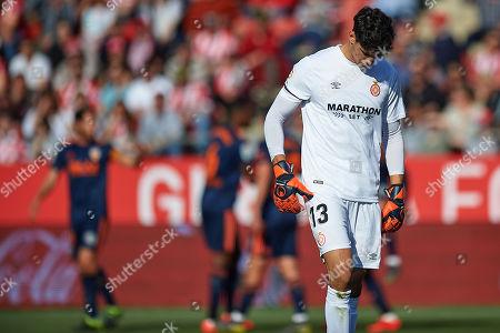 Yassine Bounou of Girona FC after receiving the 0-1