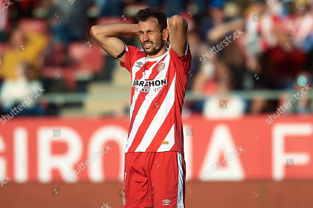 Cristhian Stuani of Girona FC reacts