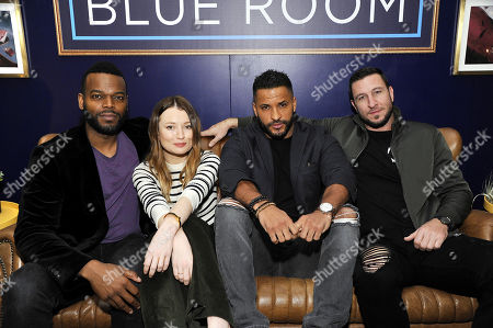 Demore Barnes, Emily Browning, Ricky Whittle and Pablo Schreiber