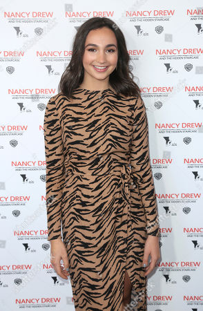 """Emily Bear arrives at the World Premiere of """"Nancy Drew and the Hidden Staircase"""" at the AMC Century City 15, in Los Angeles"""