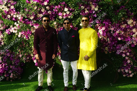 Ranbir Kapoor with filmmakers Ayan Mukerji and Karan Johar