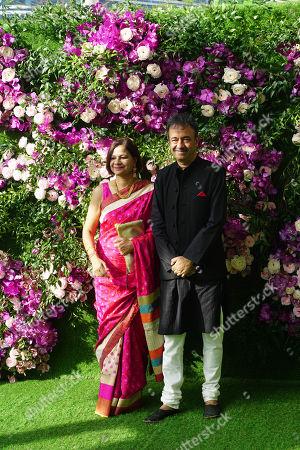 Stock Image of Bollywood filmmaker Rajkumar Hirani and his wife Manjeet Hirani