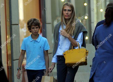 Lavinia Borromeo and her son Leone