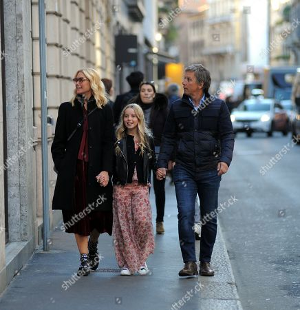 Valeria Mazza, husband Alejandro Gravier and daughter Taina