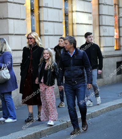 Valeria Mazza, husband Alejandro Gravier and daughter Taina