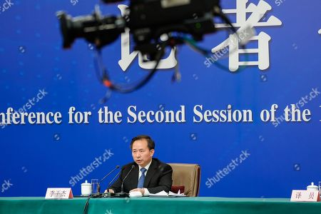 Editorial picture of China's Minister of Ecology and Environment press conference, Beijing - 11 Mar 2019