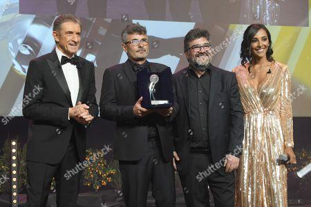 Stock Photo of Ezio Greggio, Paolo Genovese, Francesco Pannofino, Juliana Moreira