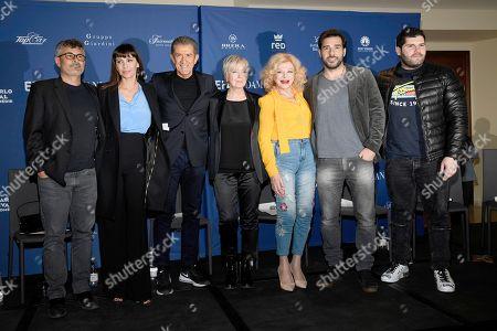 Stock Image of Ezio Greggio, Sandra Milo, Edoardo Leo, Mathilda May, Salvatore Esposito, Piera Detassis