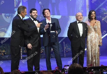 Stock Image of Ezio Greggio, Salvatore Esposito, Michael Madsen, Juliana Moreira