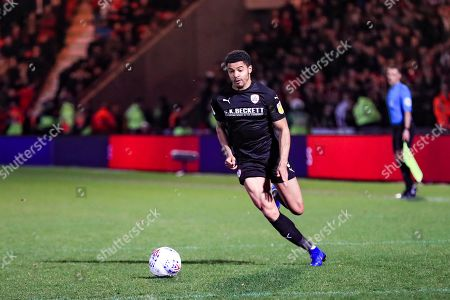15th March 2019, Keepmoat Stadium, Doncaster, England; Sky Bet League One, Doncaster Rovers vs Barnsley ; Zeki Fryers (03) of Barnsley on the ball Credit: John Hobson/News Images English Football League images are subject to DataCo Licence