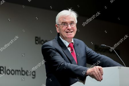 Shadow Chancellor John McDonnell delivers a speech to business leaders in Bloomberg Headquarters in London ahead of Chancellor Philip Hammond's Spring Statement later this week.