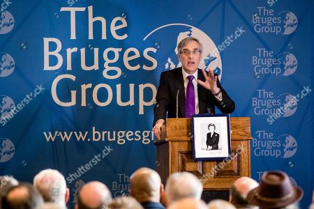 """Sir John Redwood MP speaks at a meeting of The Bruges Group about ideas for a """"Budget for Brexit"""". MPs will get a second Òmeaningful vote' on Prime Minister Theresa May's proposed Brexit deal tomorrow."""