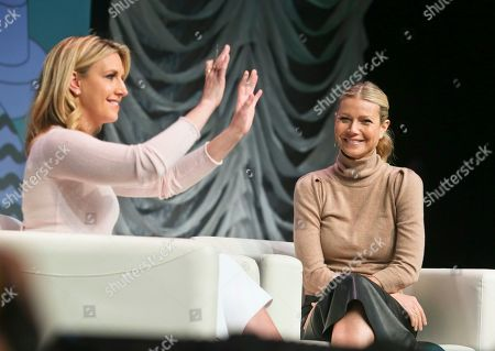 Poppy Harlow, Gwyneth Paltrow. Poppy Harlow, left, appears with Gwyneth Paltrow during a featured session at the South by Southwest Film Festival, in Austin, Texas