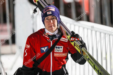 Stefan Kraft of Austria after the qualification for the FIS Ski Jumping World Cup Mens HS140 in Lillehammer, Norway, 11 March 2019.