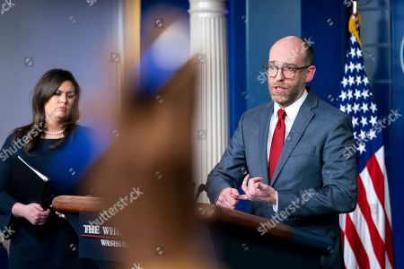 Editorial picture of OMB Director Vought speaks on Trump's budget at White House, Washington, USA - 11 Mar 2019