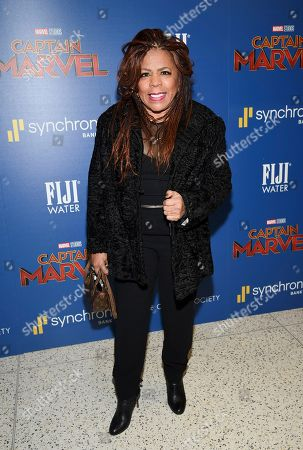"Valerie Simpson attends a special screening of ""Captain Marvel"", hosted by The Cinema Society, at the Henry R. Luce Auditorium, in New York"