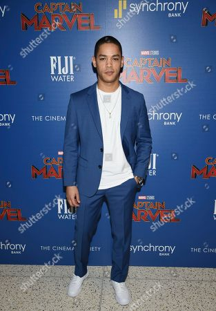 """Jeremy Carver attends a special screening of """"Captain Marvel"""", hosted by The Cinema Society, at the Henry R. Luce Auditorium, in New York"""