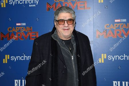 "Vincent Pastore attends a special screening of ""Captain Marvel"", hosted by The Cinema Society, at the Henry R. Luce Auditorium, in New York"