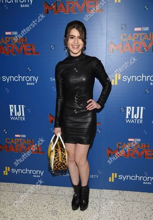 """Sami Gayle attends a special screening of """"Captain Marvel"""", hosted by The Cinema Society, at the Henry R. Luce Auditorium, in New York"""