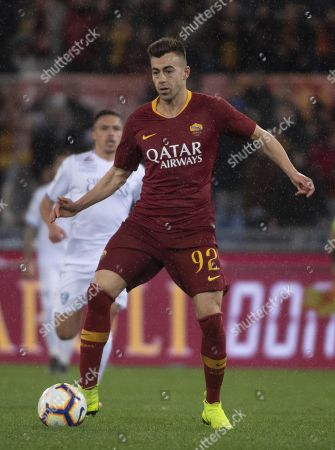 Roma's Stephan El Shaarawy in action during the Italian Serie A soccer match AS Roma vs Empoli FC at the Olimpico stadium in Rome, Italy, 11 March 2019.
