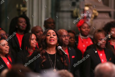 The B Positive Choir sing Rise Up featuring Lurine Cato