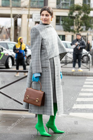 Editorial photo of Street Style, Fall Winter 2019, Paris Fashion Week, France - 05 Mar 2019