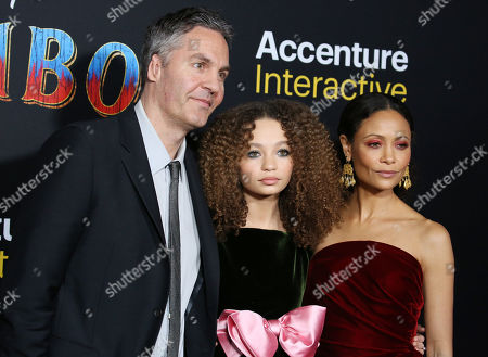 Ol Parker and Thandie Newton with daughter Nico Parker