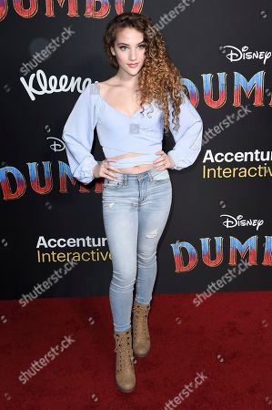 "Sofie Dossi attends the LA premiere of ""Dumbo"" at the Dolby Theatre, in Los Angeles"