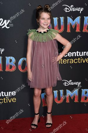 """Raegan Revord attends the LA premiere of """"Dumbo"""" at the Dolby Theatre, in Los Angeles"""