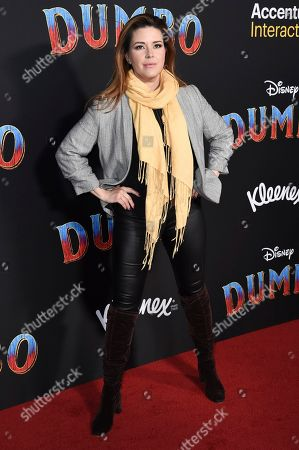 """Alicia Machado attends the LA premiere of """"Dumbo"""" at the Dolby Theatre, in Los Angeles"""