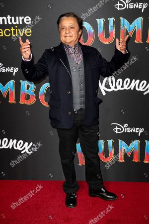 Anglo-Indian actor Deep Roy arrives for the premiere of 'Dumbo' at the El Capitan Theater in Hollywood, California, 11 March 2019. The movie 'Dumbo' will start screening on 29 March 2019.